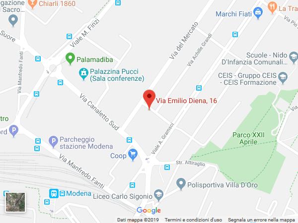 Mappa sede di Mantova