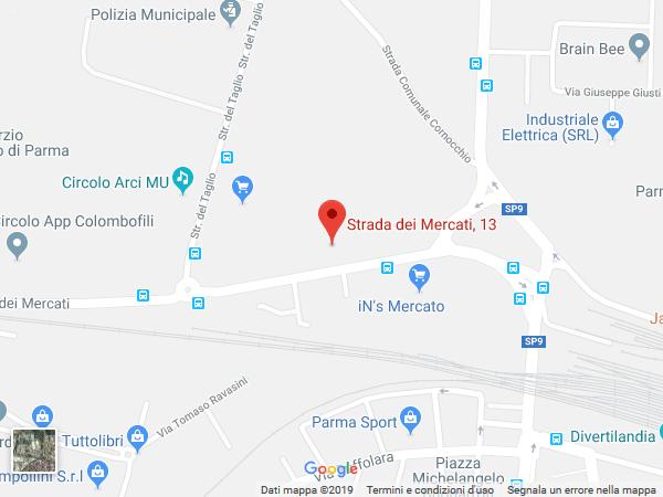Mappa sede di Parma